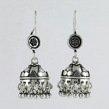 Best Deal Today !! Oxidized Plain Silver 925 Sterling Silver Earring, Discounted Oxidized Silver Jewelry, Earrings Form India