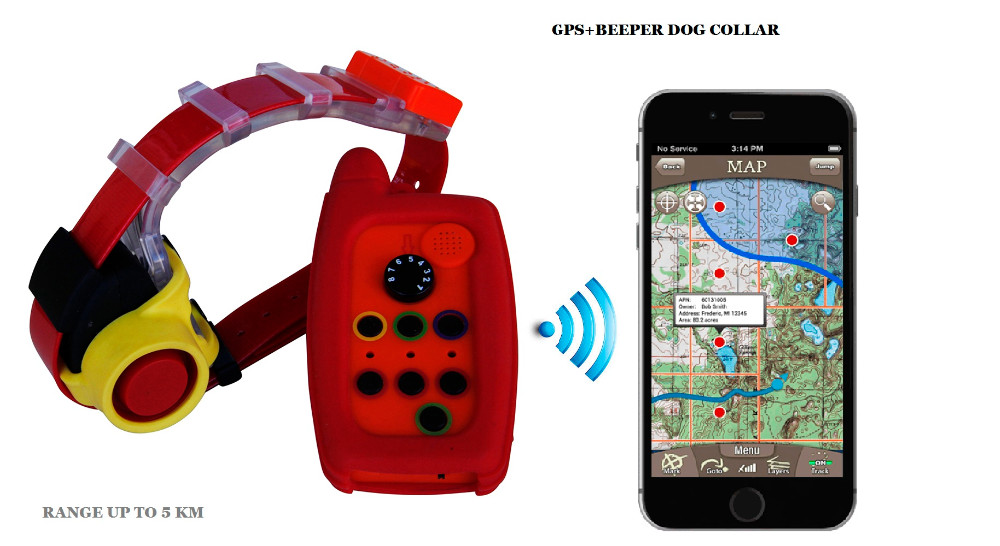 remote dog beeper with gps tracker collar with out sim card