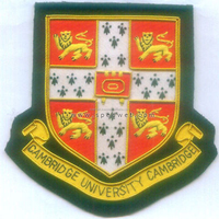Hand embroidery patches cambridge uk university school class bullion wire blazer badges