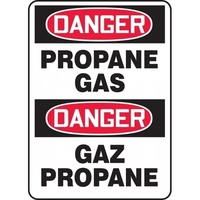 "Accuform FBMCHL235VA, 14"" x 10"" Aluminum Bilingual Safety Sign w/ Legend: ""Danger, Propane Gas"""