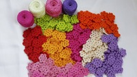 Assorted Crochet Flowers (Multipurpose)--->> $15/hundred pieces
