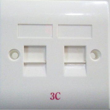 Double Port Faceplate 3x3