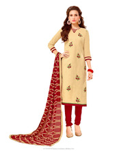 India Pakistan Dress Material Online Shopping/Churidar Salwar Kameez/Fancy Embroidery Dress Material