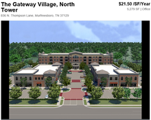 The Gateway Village - Premier commercial location for restaurants, retail and office, real estate for lease in TN, US