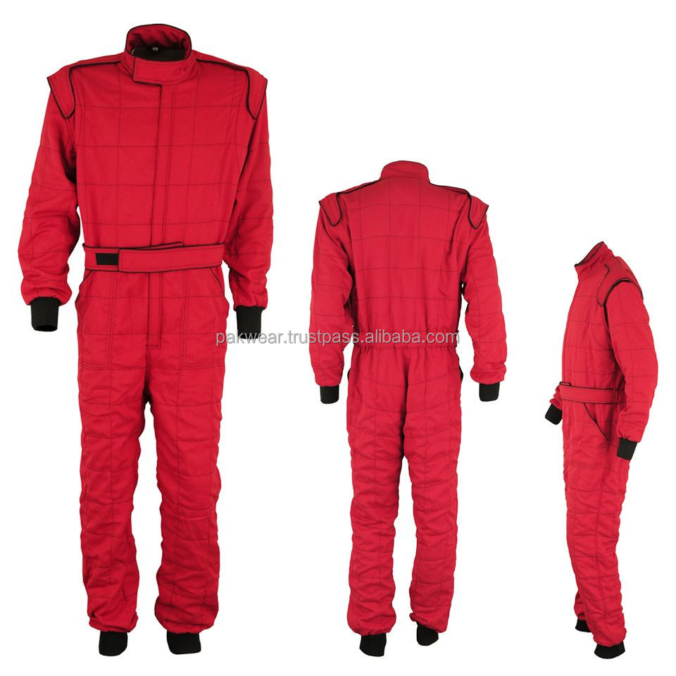 Most Popular Red Color 3 Layer Nomex Car Racing Suit & Style PW-NX-19