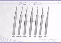 German Steel Straight/Curved/Angled/Xtype/Chisel Tip/LType/Hook Curved/Stype/90Degree Eyelash Extension Tweezers