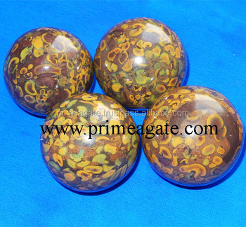 Energetic Picasso Jasper Balls | Natural Crystal Balls For Sale