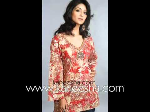 Indian Latest Fashion Tunic Tops, Plus Size Womens Tops