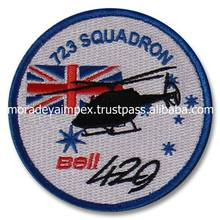Halicopter Custom Embroidery Patches Air Plain Embroidery Badges Over Locked Embroidery Patches