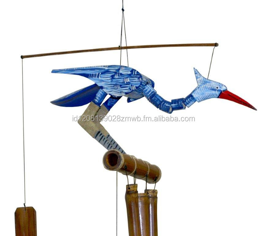 Bamboo Bird Regular Wind Chime 6 Colour