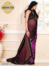 designer stylish saree with semi stitch blouse/indian saree blouse designs/100% pure silk saree/LM
