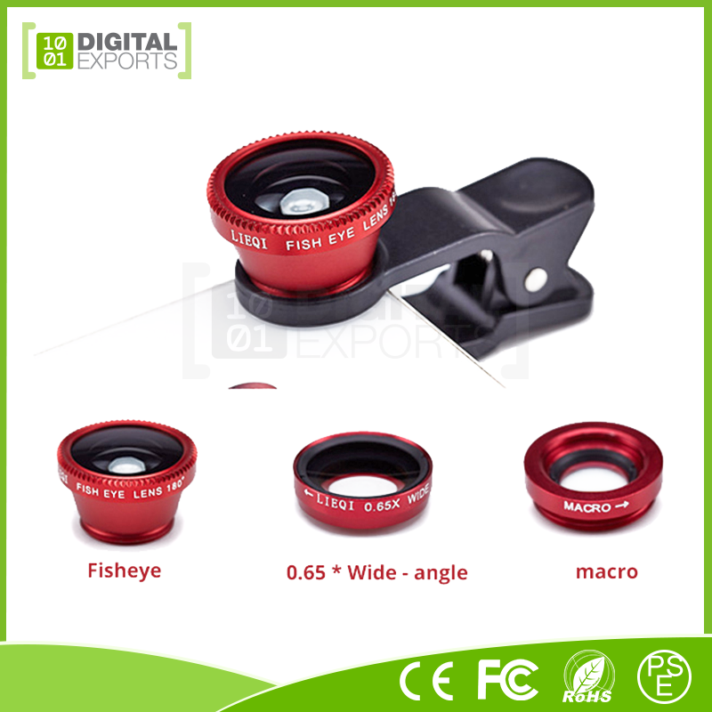 Hot selling mobile phone external lens, new universal clip lens, 360 degree camera lens