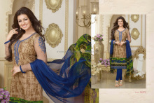 Ayesha Takia Brown Cotton Churidar Suit Trandy Shop