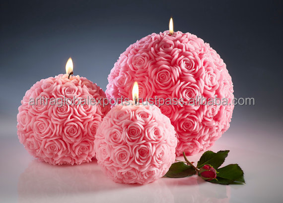 Wedding centerpieces - Carved candles - Wedding candles - Home decor