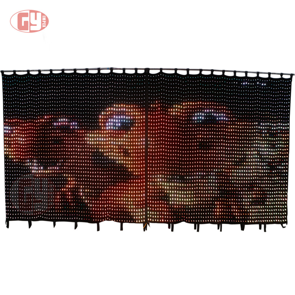 led lighting stage screen club disco flexible led curtain price