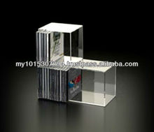 customized acrylic cd storage rack 3 slots