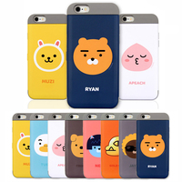 01113 For Galaxy S7 edge/S7/S6/Note5/Note4_Kakao Friends Card Pocket Double Bumper_Smart Cellular Mobile Phone Case Cover Casing