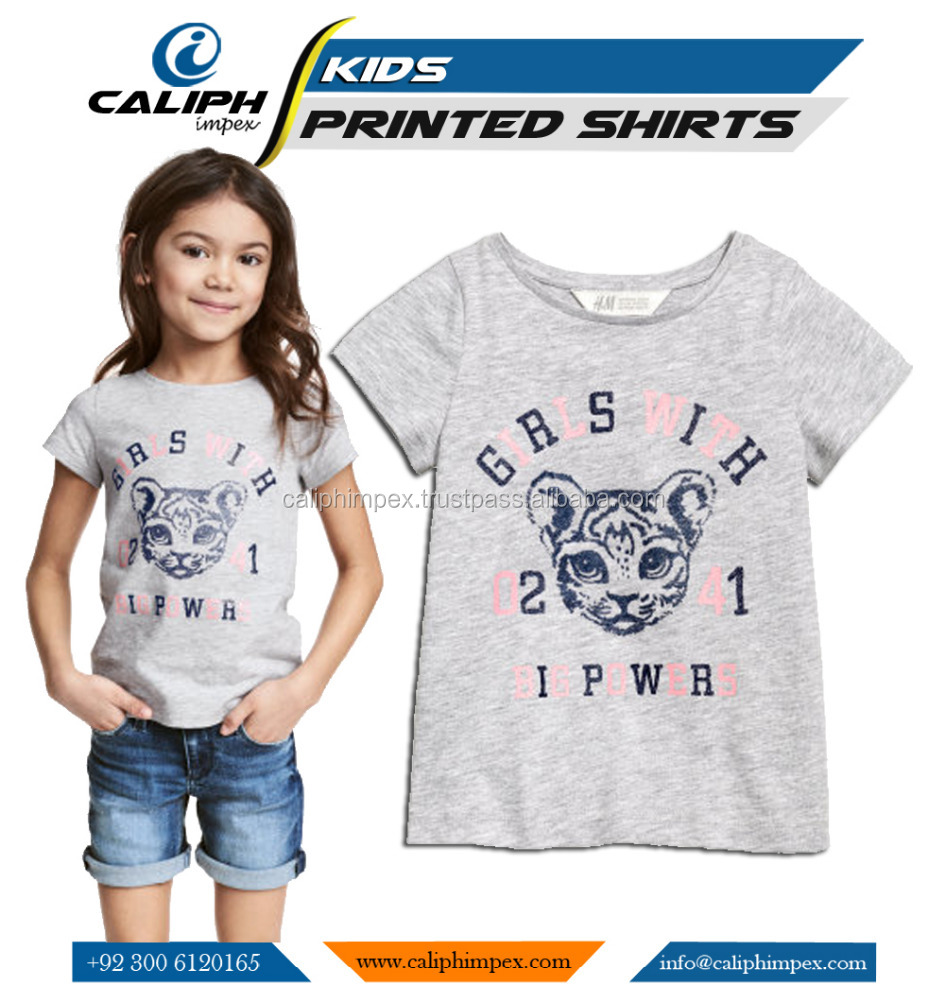Custom Printed Tee Shirts Polo Shirts For Girls Kids With Your Design