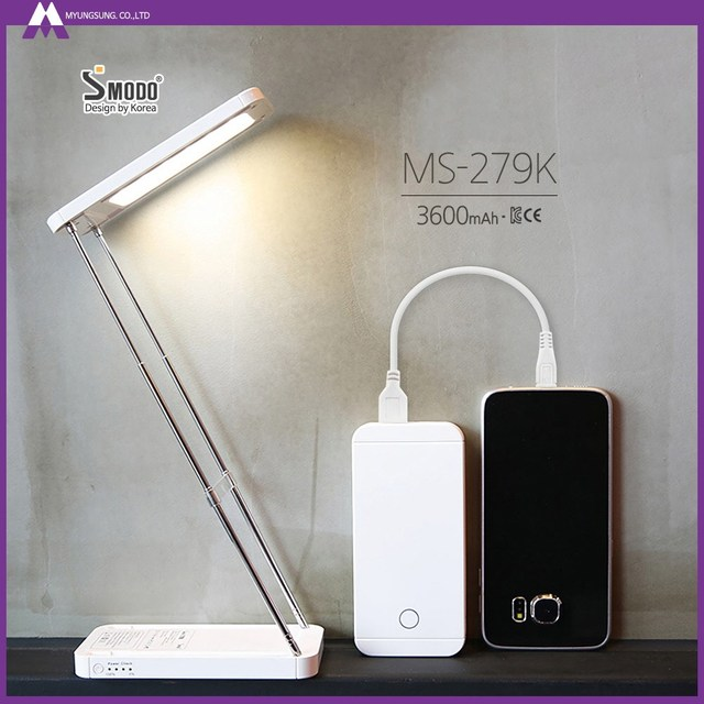 Portable smart led desk lamp foldable creative power bank with table lamp function