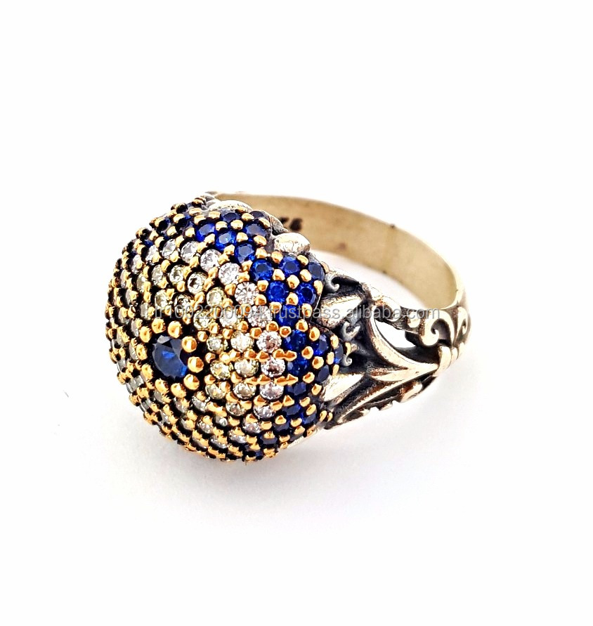 Wholesale Handcrafted Turkish 925 Sterling Silver Authentic Ring