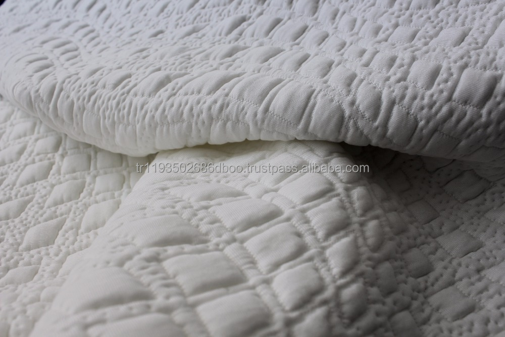 Polyester and viscose Knitted mattress fabric