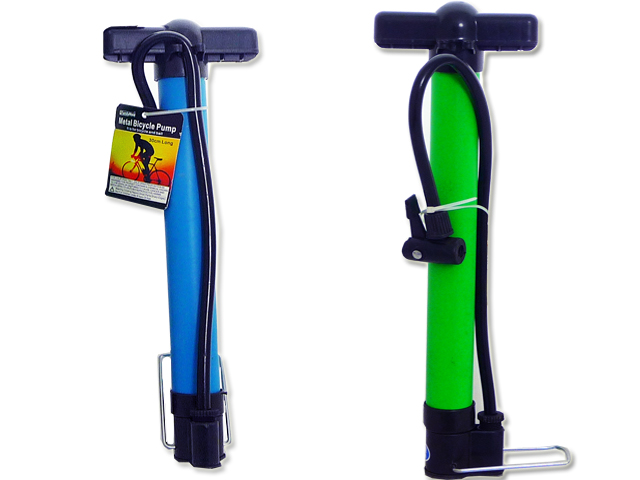 BICYCLE PUMP 30CM LONG ASST, #16580