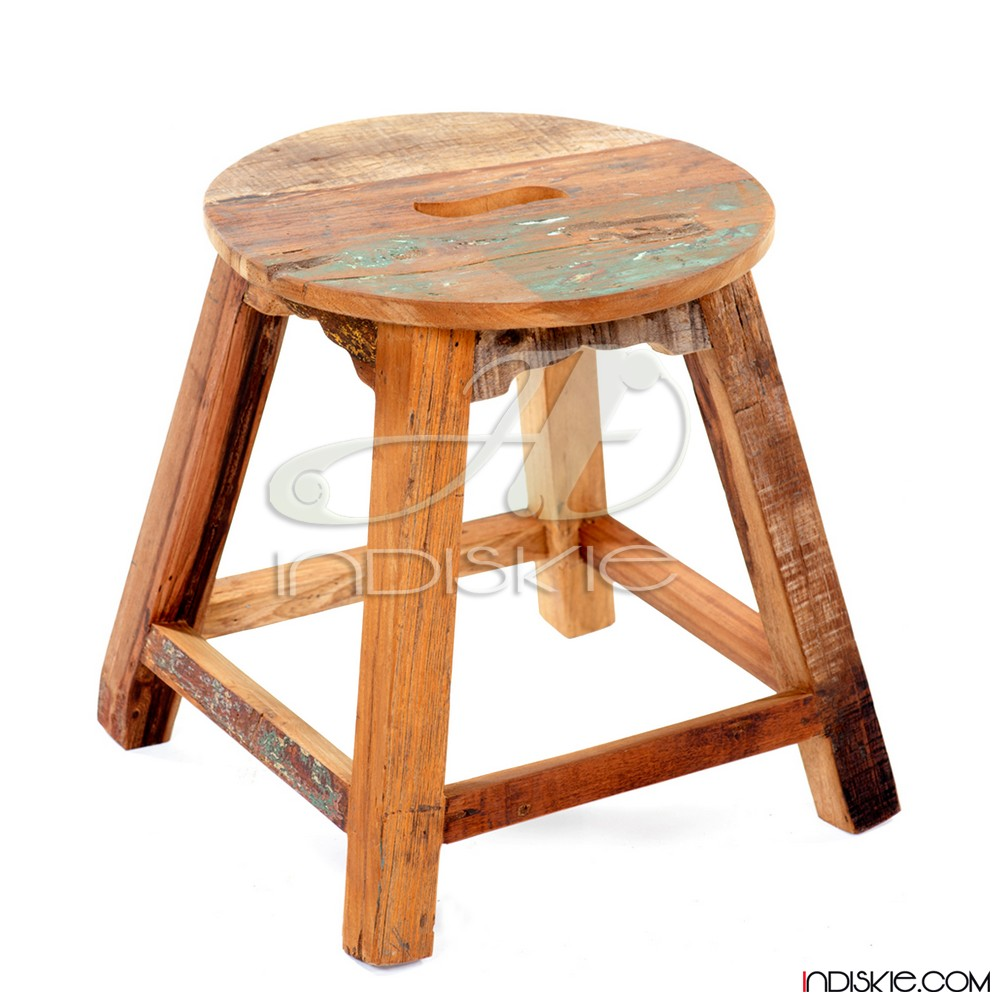 Recycled wood products Stool