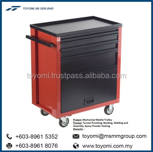 Mechanical Hand Mobile Trolley Workbenches