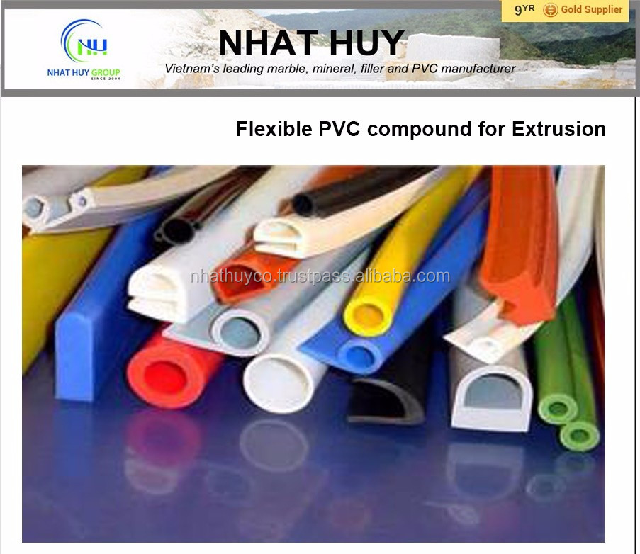 PVC compound Extrusion for Petrol tubes, sealing strips, soft profiles, garden hoses, hose for fuel & oils, gaskets