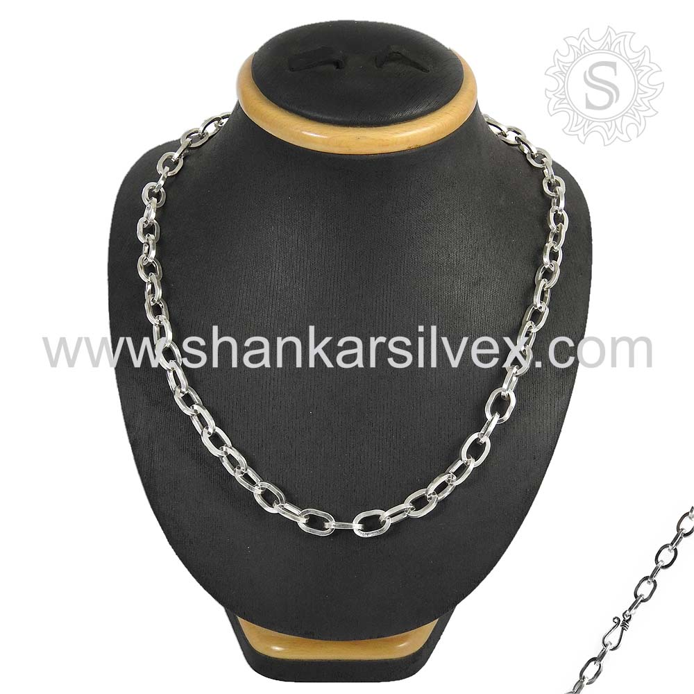 Traditionally Designed Indian Silver Jewelry Necklace Handmade Silver Jewelry Exporter