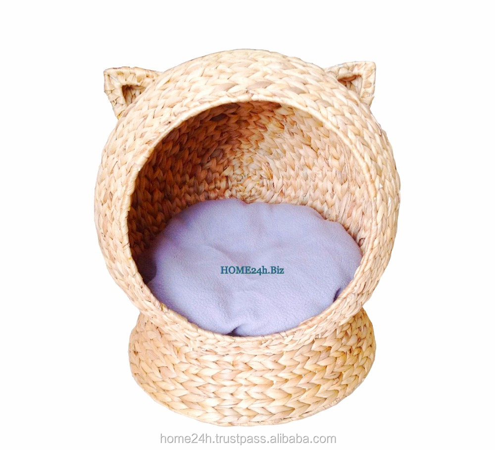 New Design - Water Hyacinth Wicker Cat Bed, Cat House, pet House, small dog house