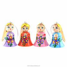 Wooden Angel Souvenir, 5.5 cm Russian Christmas decorations, Religious craft, VPang05