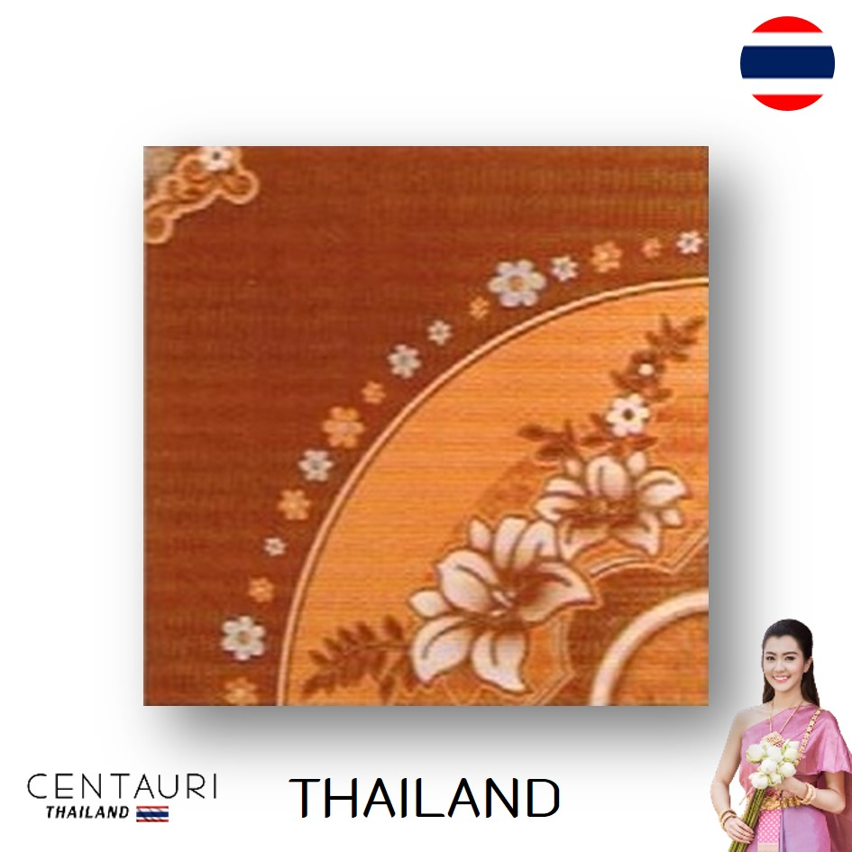 glazed 30*30 cm new brown tan pink flower pattern design Thai porcelain interior tile and tile 300*300 mm from Thailand