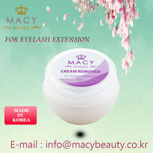 cream type remover for eyelash extension glue