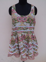 Mini party wear dresses for girls in beautiful laces pattern in cotton fabric for woman & girls