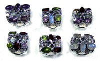 Casting Design Beautiful 925 Silver gems Rings Rajasthan Company - jyr193