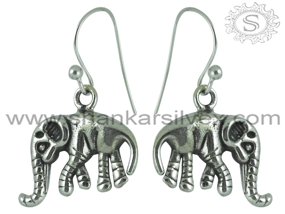 Magnificent High Polish 925 Sterling Silver Elephant Earring Handmade Dangle Earring Wholesale Silver Jewelry
