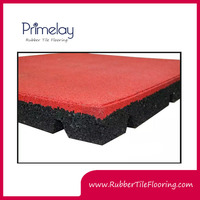 Hot New Sales Product Primelay Square Rubber Tile, Rubber Gym Flooring