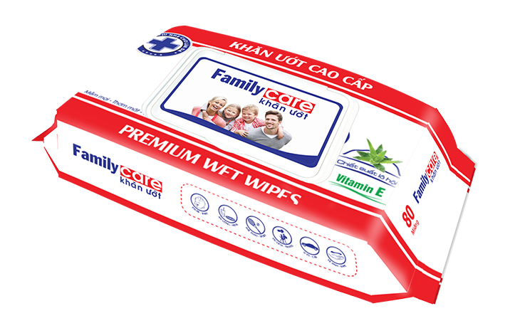 HOT CHEAP WET WIPES BRAND FAMILY CARE FROM KYVY CORPORATION - VIETNAM