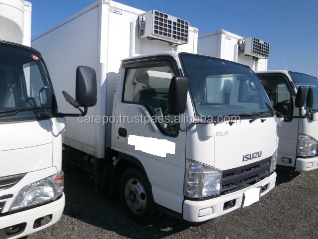 USED RIGHT HAND DRIVE TRUCK ISUZU ELF TRUCK BKG-NJR85AN 2008 WITH REFRIGERATOR & FREEZER