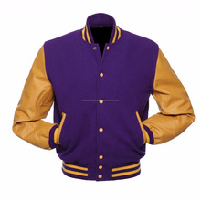 2017 Mens jackets with genuine leather sleeves / varsity jackets / baseball jackets for men Wholesale