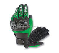 2015 Popular Black Leather Motocross Glove