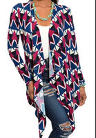 Tribal African Print Burgandy Wine Red and Blue Cardigan - Free Shipping Black Friday, Cyber Monday Sale.