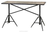 Industrial Industrial Furniture Vintage Console Table reclaimed wood metal
