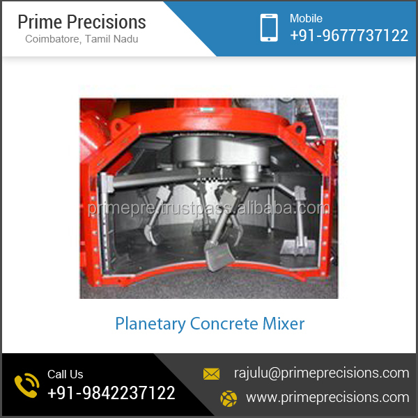 Eco-Friendly High Density Planetary Concrete Mixer for Sale at Nominal Price