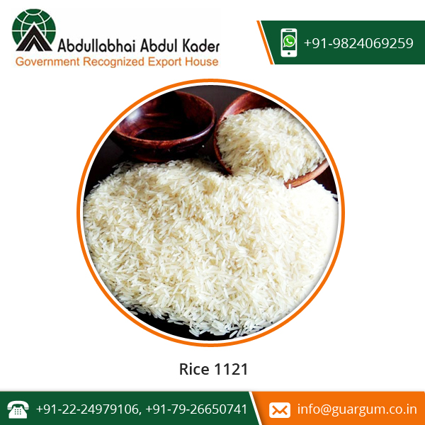 1121 Basmati Rice First Choice Of The National As Well As International Clients