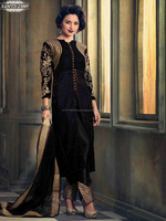 Bollywood Actress Embroidery Resham & Zari Work Velvet Salwar Suits