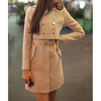 Women Jacket & Coat, Beige Wool Italian Winter Coats