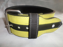 Power lifting belt with single prong buckle stainless steel