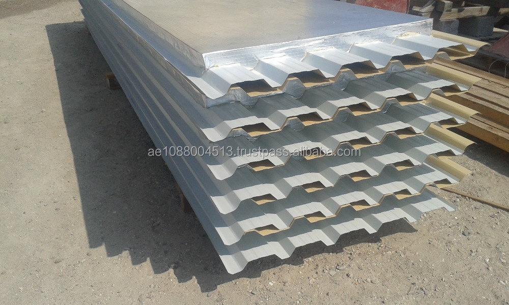Aluminum Foil Bottom Insulated sandwich panels + 971 565478106 - Roof and Wall sandwich panels with one side Aluminum Foil - UAE